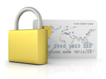 Secure Credit Card Royalty Free Stock Image