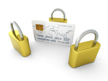 Secure Credit Card Stock Photography