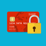 Secure credit card Royalty Free Stock Photography