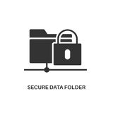 Secure data folder icon Stock Photography