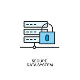 Secure data system icon Royalty Free Stock Photography