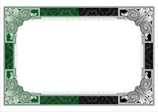 Secure design frame vector #1 Stock Images