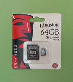 Secure Digital SD memory card. FOUNTAIN VALLEY, CALIFORNIA, UNITED STATES - CIRCA MAY 2016: Kingston technology 64 GB secure digital micro SD memory card for Royalty Free Stock Photos