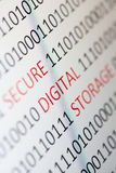 Secure digital storage Stock Photos
