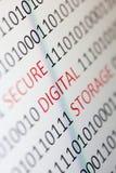 Secure digital storage stock photos