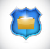 Secure documents shield illustration design Royalty Free Stock Images