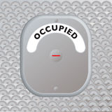 Secure door occupied royalty free illustration