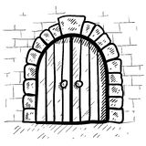 Secure door sketch Royalty Free Stock Photo