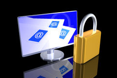 Secure Email communication Royalty Free Stock Images