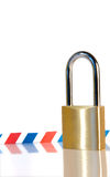Secure envelope. Isolated padlock with an envelope on the background Royalty Free Stock Images