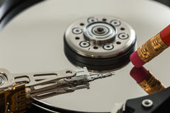 Secure erase data on hard drive. Secure erase data on hard-drive royalty free stock photography