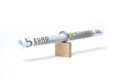 Secure Euro Bill Stock Photo