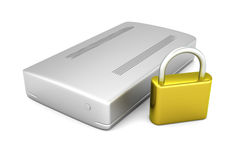 Secure external Hard Drive Stock Photography