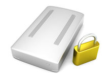 Secure external Hard Drive Royalty Free Stock Image