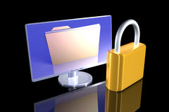 Secure File Stock Photography