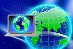 Secure Global Information Technology Royalty Free Stock Photos