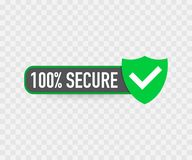 100 Secure grunge vector icon. Badge or button for commerce website. Vector illustration. 100 Secure grunge vector icon. Badge or button for commerce website vector illustration