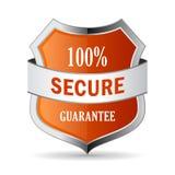 100 secure guarantee shield icon. Illustration on white background royalty free illustration