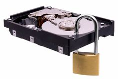 Secure hard disk Royalty Free Stock Photography