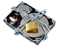 Secure hard disk Stock Photography