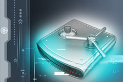 Secure Hard drive Stock Photography