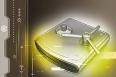 Secure Hard drive Stock Photo