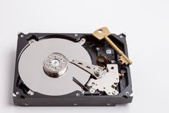 Secure hard drive Stock Image