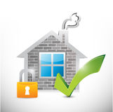 Secure home illustration design Stock Photography
