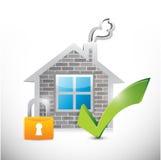 Secure home illustration design vector illustration