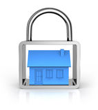 Secure house concept Royalty Free Stock Images