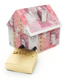 Secure house pounds Royalty Free Stock Photo