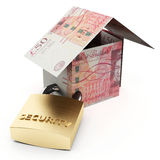 Secure house pounds Royalty Free Stock Images