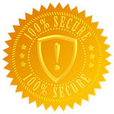 Secure icon. Isolated on white stock illustration