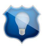 Secure ideas light bulb Stock Image