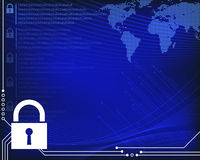 Secure Information Technology Background Royalty Free Stock Photo