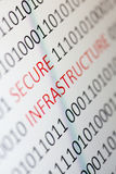 Secure infrastructure. Close up of Secure infrastructure on a monitor - shallow dof stock photography