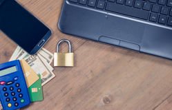 Secure internet payment concept. Royalty Free Stock Photography
