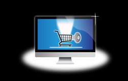 Secure Internet shopping computer Stock Image