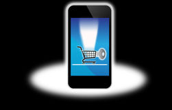 Secure Internet shopping computer Royalty Free Stock Photography