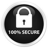 100% secure premium black round button. 100% secure isolated on premium black round button abstract illustration Vector Illustration