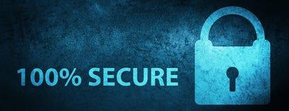 100% secure special blue banner background. 100% secure isolated on special blue banner background abstract illustration Royalty Free Illustration
