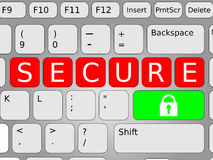 Secure Keyboard Stock Image