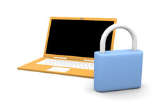 Secure Laptop Royalty Free Stock Photos