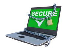 Secure laptop Royalty Free Stock Images