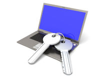 Secure Laptop Royalty Free Stock Photography