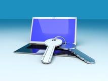 Secure Laptop Stock Photo