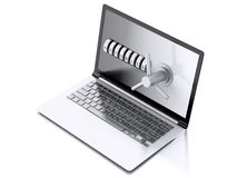 Secure laptop. Data security concept. Stock Photography