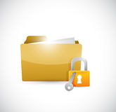 Secure lock illustration design. Over a white background Royalty Free Stock Image