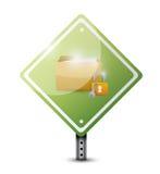 Secure lock sign illustration design Stock Image