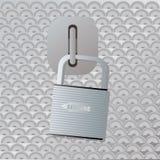 Secure locker Stock Image